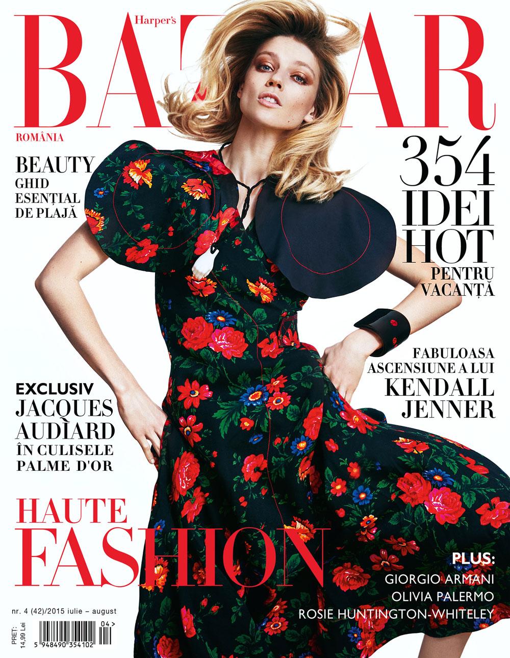 Cover Masha Novoselova x Harpers Bazaar x Dan Beleiu